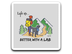 Labrador Stickers - Life Is Better With A Lab - Hiking or Camping - Labrador Sticker From Lab HQ