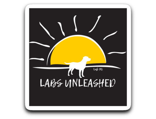 Labrador Decal - Labs Unleashed Sticker From Lab HQ