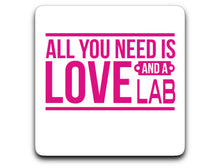 Labrador Decal Sticker All You Is Love And A Lab - pink or black/red