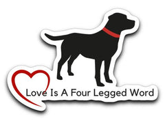 Labrador Retriever Decals -Love Like A Lab from Lab HQ
