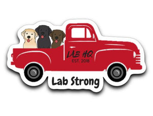 Labrador Retriever Decals - Lab Strong From Lab HQ