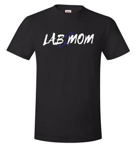 Lab T-shirt - Lab MOM With Paw Prints Tee From Lab HQ