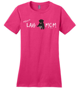 "Black Lab T-shirt - Black ""Lab MOM"" T-shirt From Lab HQ"