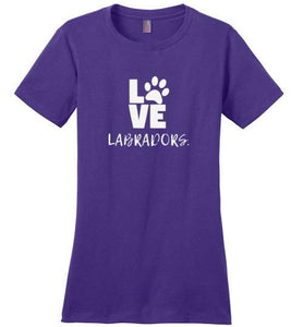 "Labrador T-shirt ""LOVE Labradors"" T-shirt by Lab HQ"