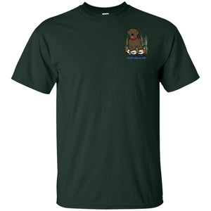 Chocolate Labrador Retriever T-Shirts For Duck Hunters At Live-Like-A-Lab.com - Green