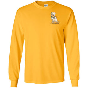 #Hunt Like A Lab - Yellow Lab - Long Sleeve T-Shirt