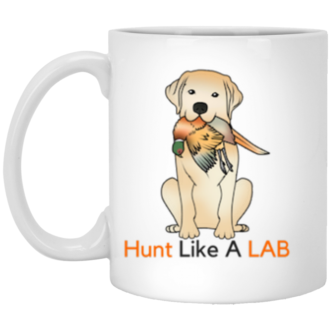 Yellow Labrador Retriever Mug - Hunt Like A Lab -