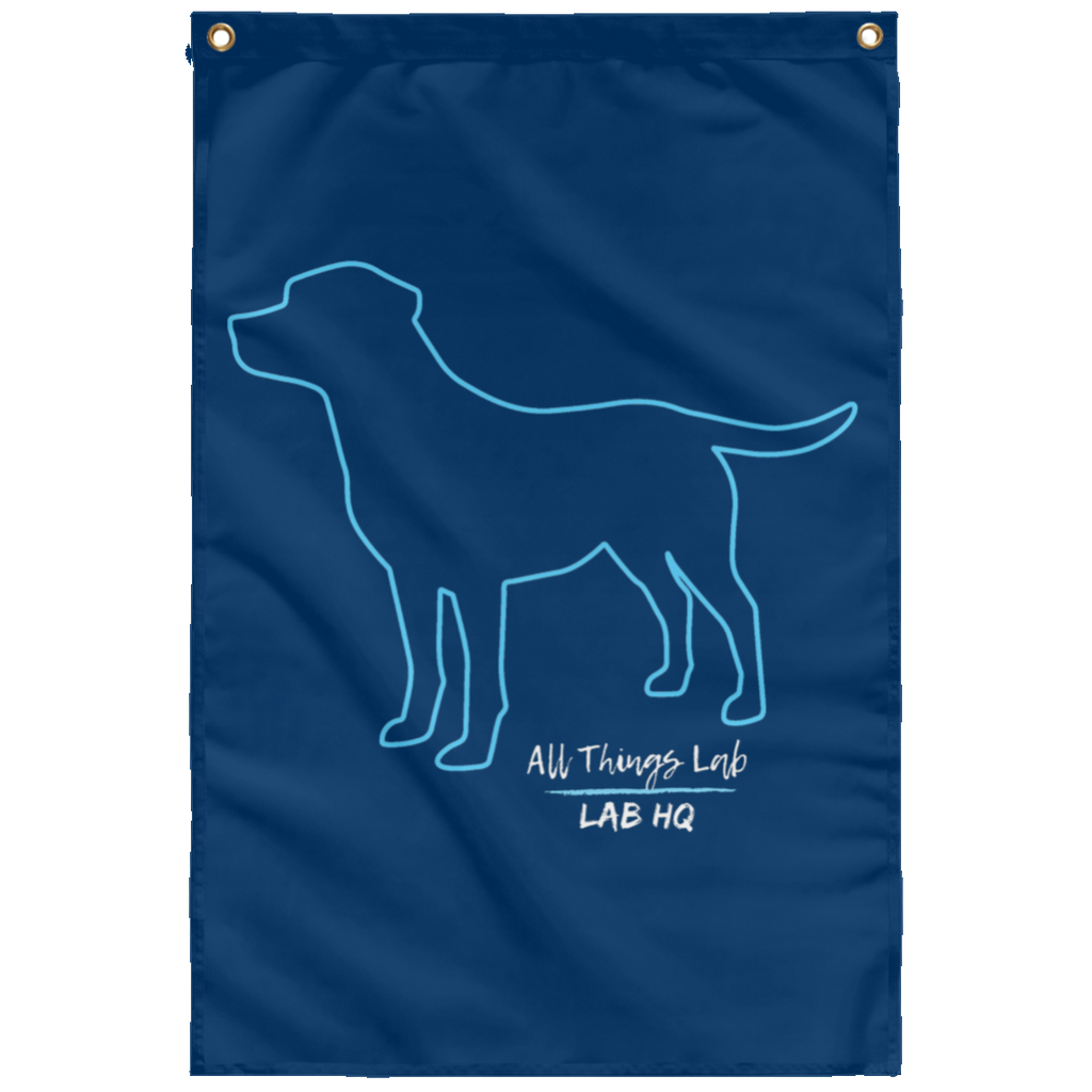 dog silhouette teal SUBWF Sublimated Wall Flag