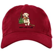 Yellow Labrador Retriever Ball Caps - Hunt Like A Lab Hunting Cap From Lab HQ