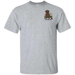 Chocolate Labrador Retriever T-Shirts For Duck Hunters At Live-Like-A-Lab.com