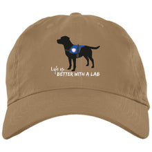 Black Lab Hat - Life Is Better With A Lab - Service Dog - Black Lab Hat From Lab HQ