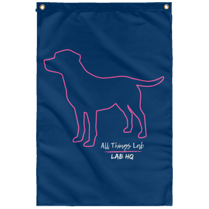 dog silhouette pink SUBWF Sublimated Wall Flag