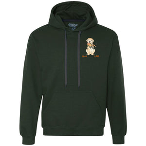 Labrador Retriever Hoodie Hunt Like A Lab - Yellow Lab With Bird