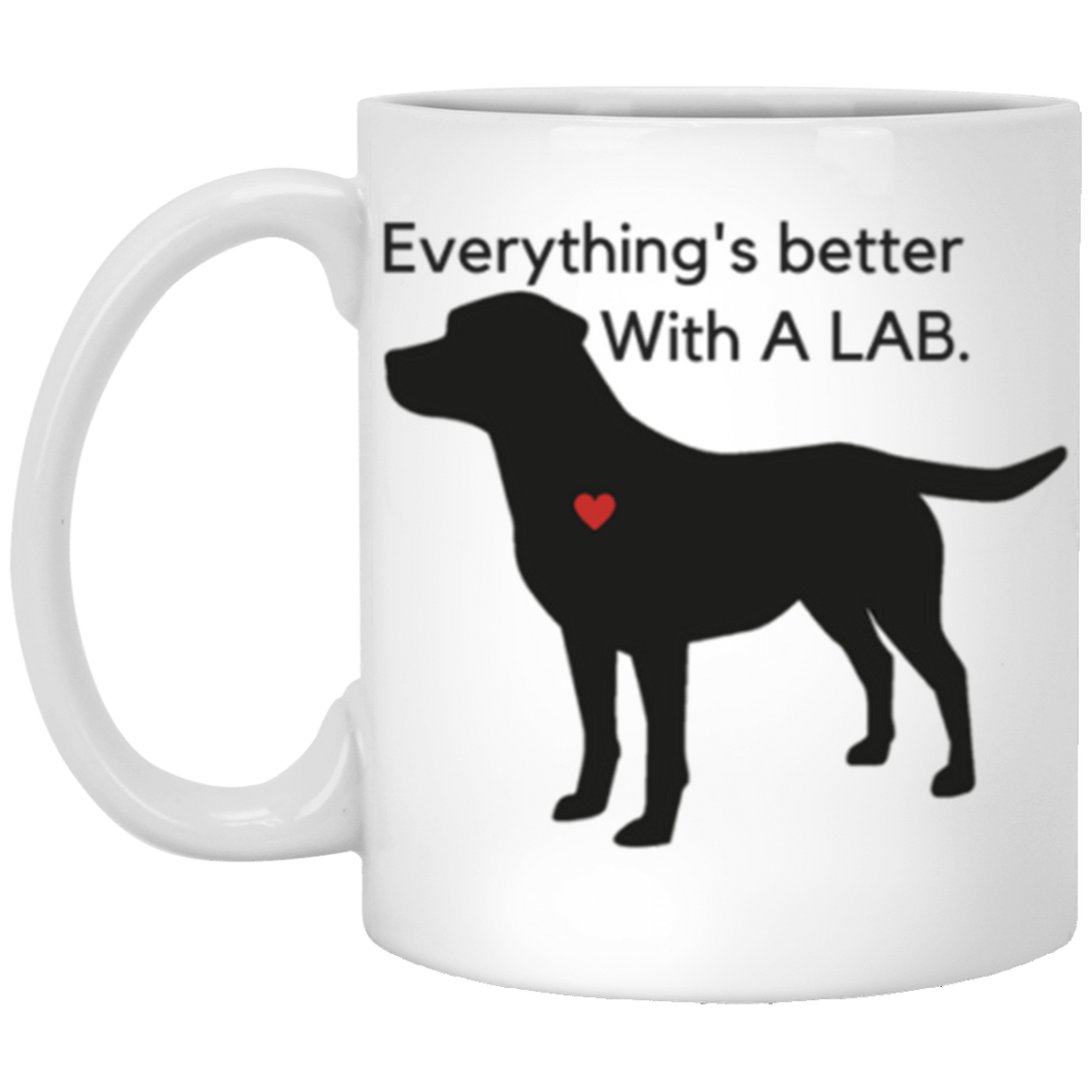 Labrador Retriever Mug - Everything's Better - From Lab HQ