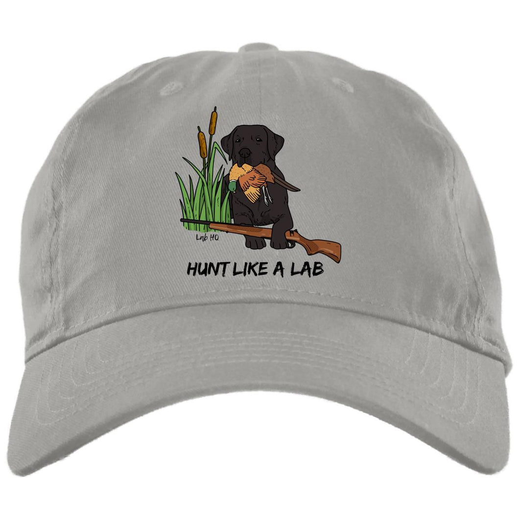 Black Labrador Retriever Ball Caps - Hunt Like A Lab Hunting Cap From Lab HQ