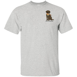 Chocolate Lab T-Shirt - #Hunt Like A Lab T-shirt From Lab HQ - Short Sleeve