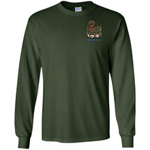 Chocolate Labrador Retriever T-Shirts For Duck Hunters At Live-Like-A-Lab.com - Long Sleeve - Green