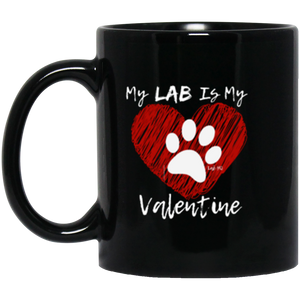 Yellow, Chocolate or Black Lab Coffee Mug - My Lab Is My Valentine From Lab HQ