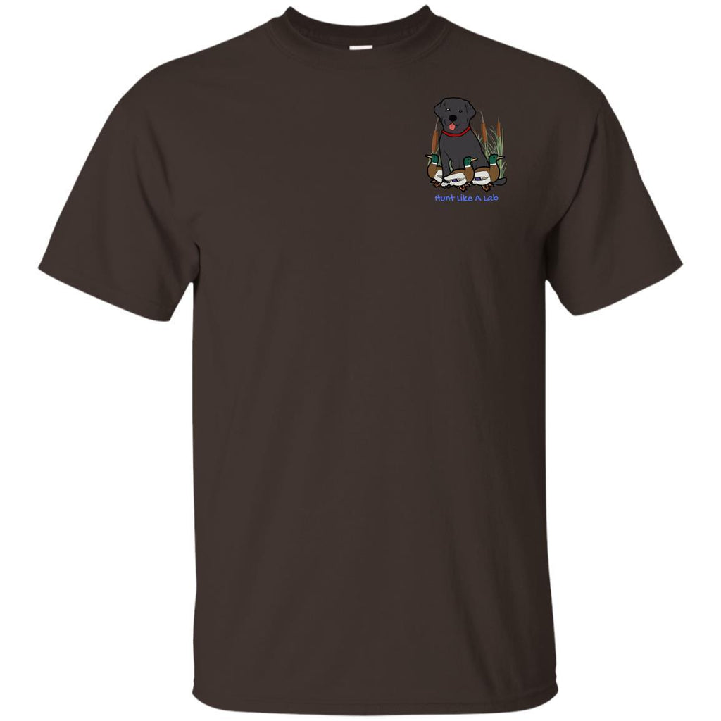Black Labrador Retriever T-Shirts For Duck Hunters At Live-Like-A-Lab.com - Brown