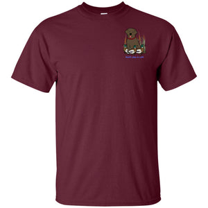 Chocolate Labrador Retriever T-Shirts For Duck Hunters At Live-Like-A-Lab.com - Maroon
