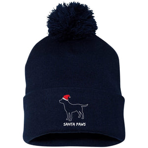 Labrador Santa Hat - Santa Paws Labrador Beanie With Pom Pom From Lab HQ