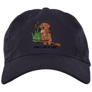Red Fox Labrador Retriever Ball Caps - Hunt Like A Lab Hunting Cap From Lab HQ