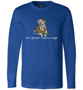 Silver Labrador T-shirt - Don't Get Your Tinsel In A Tangle Lab Tee From Lab HQ