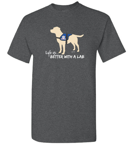 Yellow Lab T-shirt - Service Dog - Life Is Better With A Lab T-shirt From Lab HQ today!