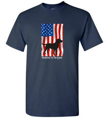 "Labrador T-shirt ""Patriotic To The Bone"" Lab T-shirt From Lab HQ"