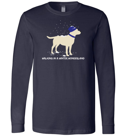 Yellow Labrador T-shirt - Walking In A Winter Wonderland Lab Tee From Lab HQ