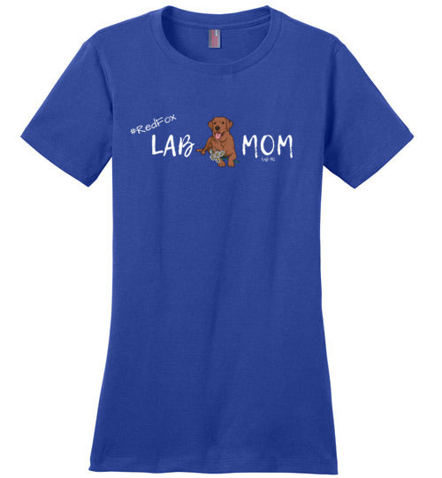 "Red Fox Lab T-shirt - Red Fox ""Lab MOM"" T-shirt From Lab HQ"