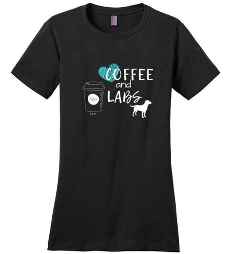 Coffee And Labs - Labrador Retriever T-shirt From Lab HQ