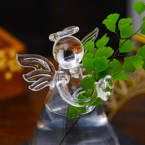 Clear Angel Shape Glass Hanging Vase Terrarium