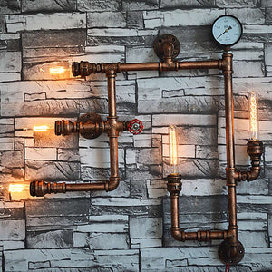 Vintage Water Pipe Wall Lamp - Highline Station