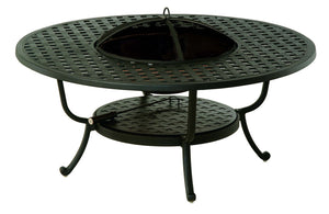 Newport Wood Burning Fire Pit Table