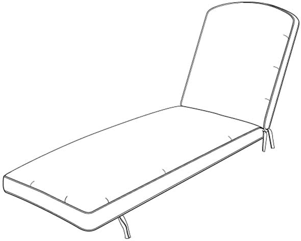 "Hanamint Chaise Cushion - 25"" x 81.5"" x 4"""