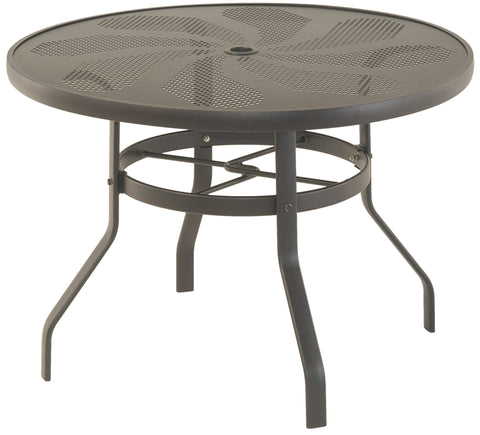 "Stamped Aluminum 42"" Round Dining Table"