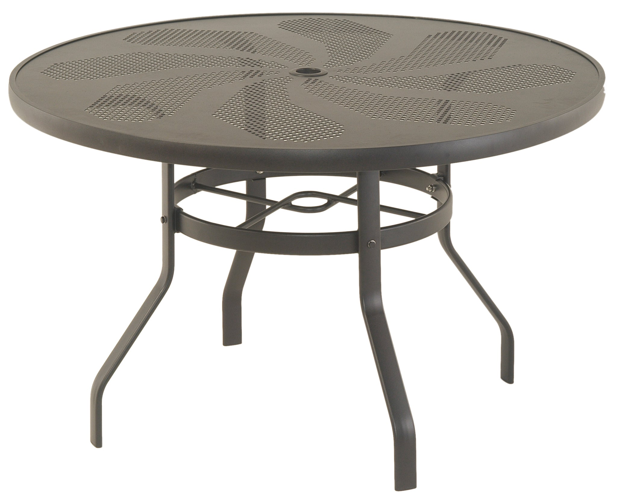 "Stamped Aluminum 48"" Round Dining Table"
