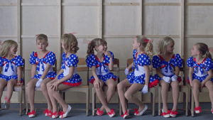"""Casting JonBenet"" on Netflix - several girls trying out for JonBenet on the set - History Is Power"
