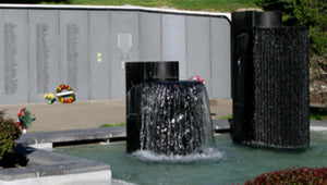 Fountains at the Kansas City Vietnam Memorial Fountain