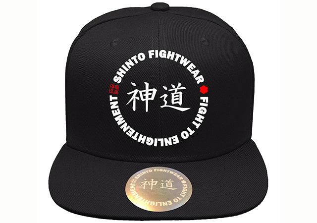 Black Shinto Hat - Flat Brim