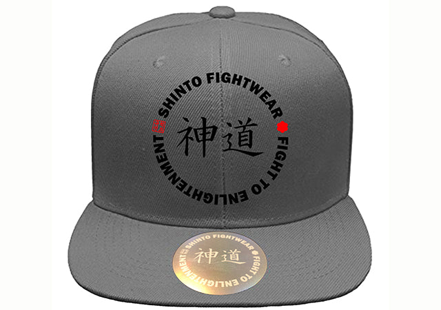 Gray Shinto Hat - Flat Brim