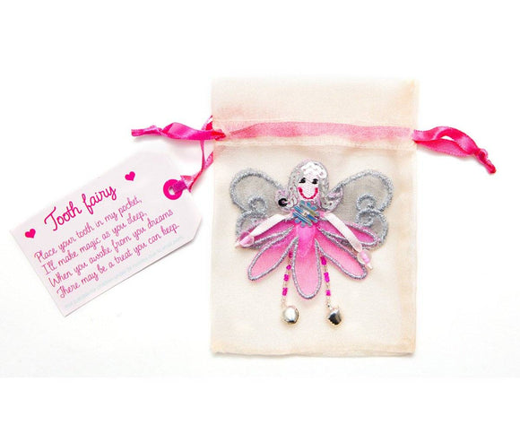 Believe You Can Pink Tooth Fairy Pouch. - ash-dove