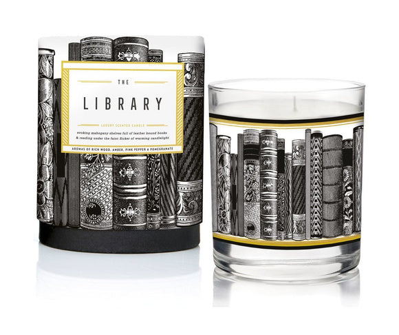 The Library Luxury Scented Candle by Chase & Wonder - ash-dove