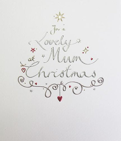 For a lovely Mum at Christmas greeting card