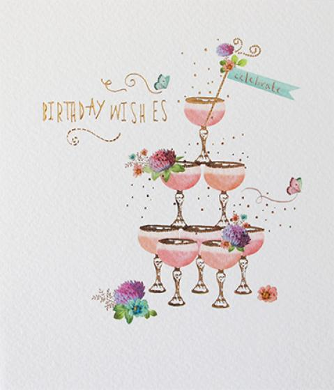 Birthday Wishes Greeting Card by Paperlink - ash-dove