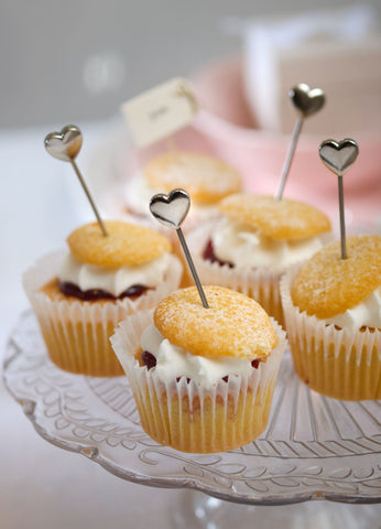 Cup Cake Heart Party Picks by Retreat Home - ash-dove