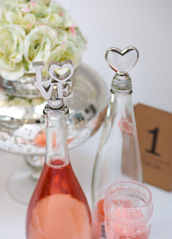 Retreat Home Love & Heart Wine Stoppers - Ash & Dove