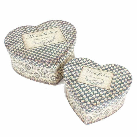 Heaven Sends Heart Shaped Trinket Boxes Gift Set - ash-dove