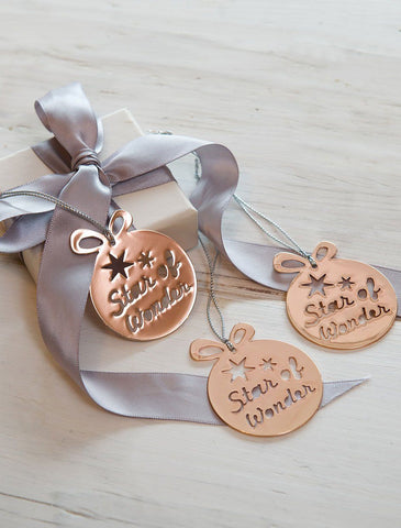 Rose Gold Die Cut Christmas Decorations by Retreat Home Christmas Shop Retreat Home